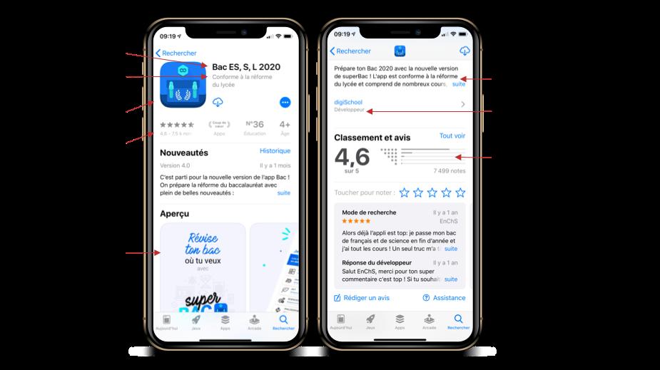 Référencement application mobile sur les stores